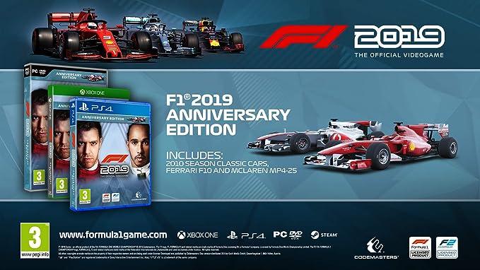 F1 2019 - Anniversary Edition (Xbox One) (Xbox One): Amazon co uk