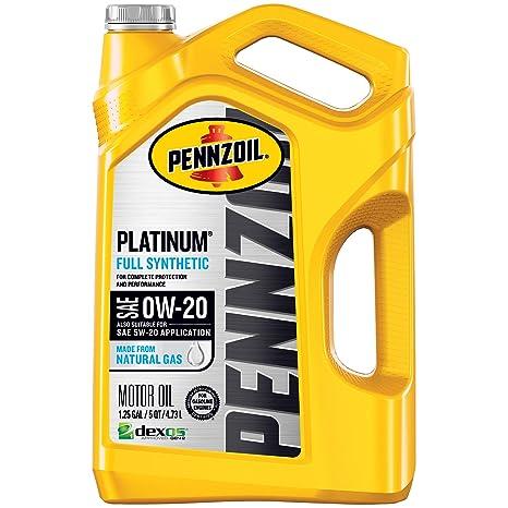 0w 20 Vs 5w 20 >> Pennzoil Platinum Full Synthetic Motor Oil Sae Sn 0w 20 5 Quart Pack Of 1