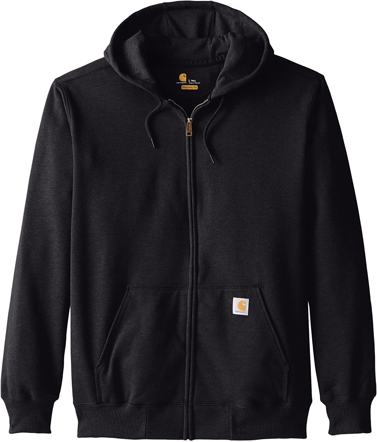 Carhartt Men's Size Rain-Defender Paxton Heavyweight Hooded Zip Front Sweatshirt-Tall: Clothing