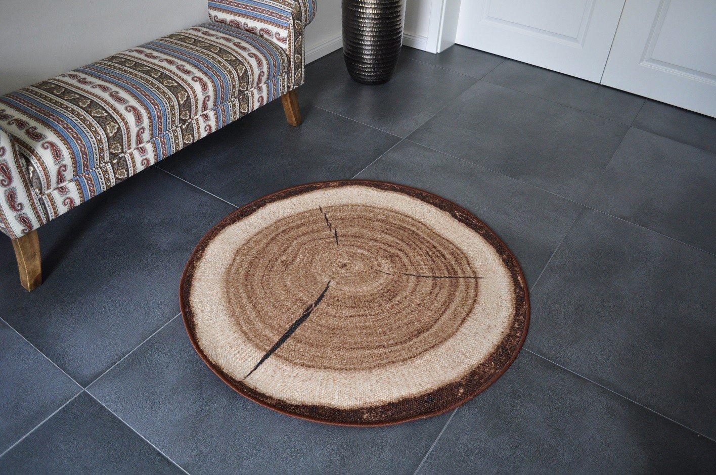 Design Teppich Holz Baumstamm 160 x 240 cm Baumscheibe HR-5 Holzmuster B00TIPQNVI Teppiche