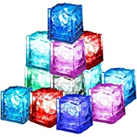 Xrten 12 stuks LED Ice Cube, LED ijsblokjesdecoratie ijsblokjesverlichting voor feestjes