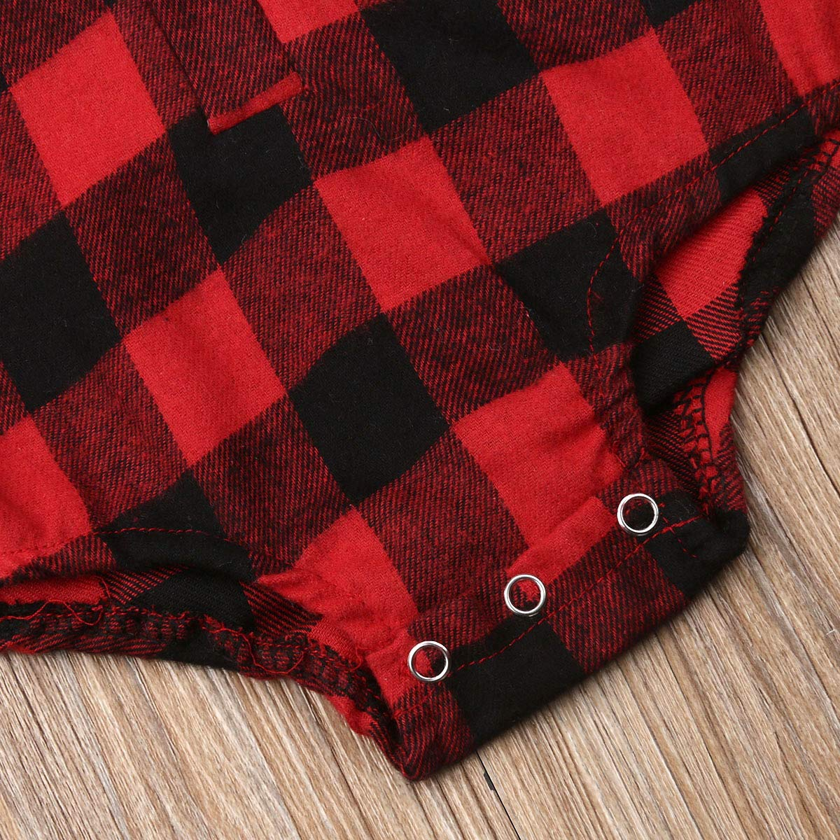 PERILA New Baby Girl Boy Christmas Elk Romper Infant Kids Plaid Blouse Bodysuit Long Sleeve Outfits Clothes for 0-18 Years