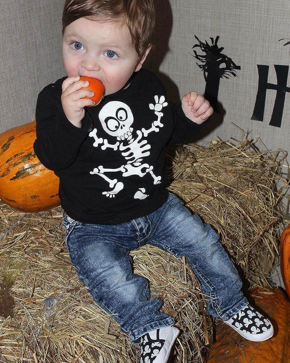 Toddler Halloween Clothing Boys,MONsin Halloween Toddler Little Girls Boys Clothes Bone Print T-Shirt Tops Pants