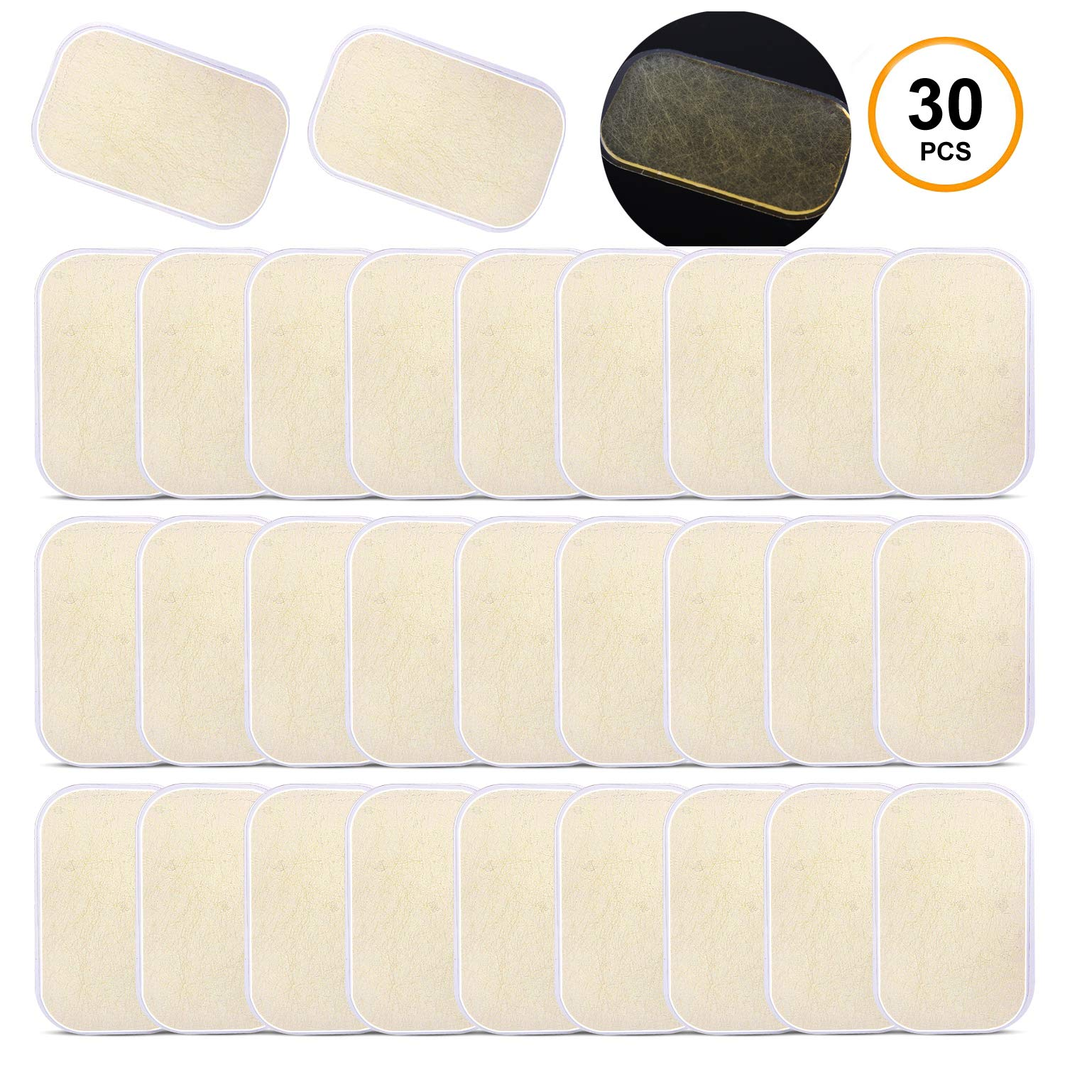 ABS Stimulator Sportneer 30 Pads Abs Trainer Replacement Gel Sheets for EMS AB Trainer ABS Toner Body Muscle Trainer Waist Trimmer Belt