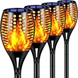 "TomCare Solar Lights Upgraded, 43"" Waterproof Flickering Flames 96 LED Torches Lights Outdoor Solar Landscape Decoration Ligh"