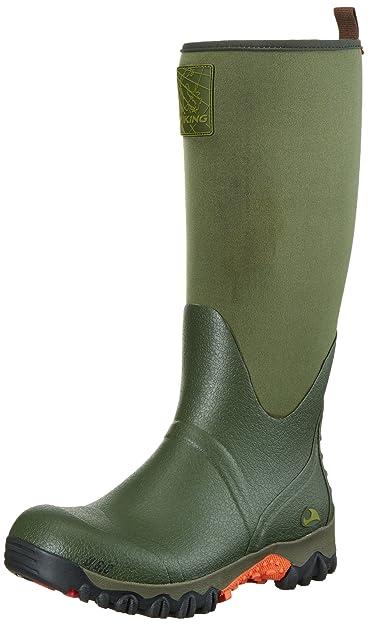 Viking Unisex-Erwachsene Falk Neo Langschaft Gummistiefel, Grün (Green 4), 46 EU