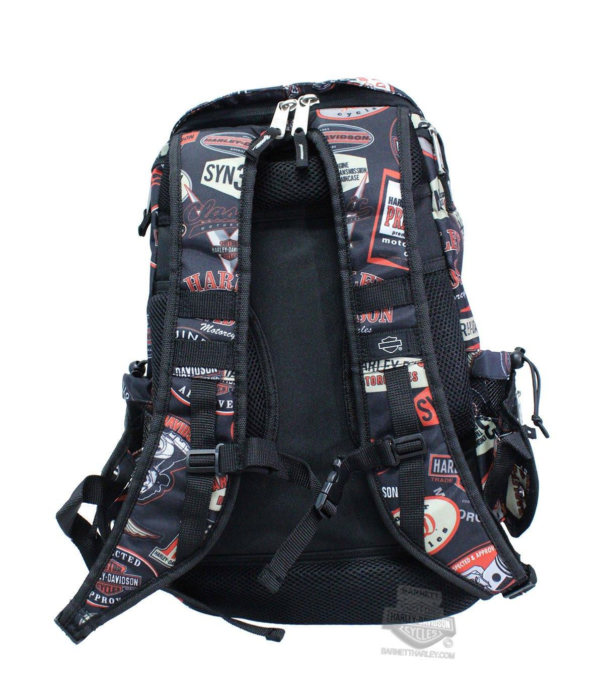 No Size Harley-Davidson Mens VintageNight Ops Stellar Backpack