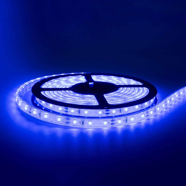 20' Blue LED Strip Light w/White Backing   IP68 Waterproof Rating   Boat (Marine) LED Strip Light   Automobile LED Strip Light   Motorcycle LED Strip Light   Indoor/Outdoor LED Strip Light