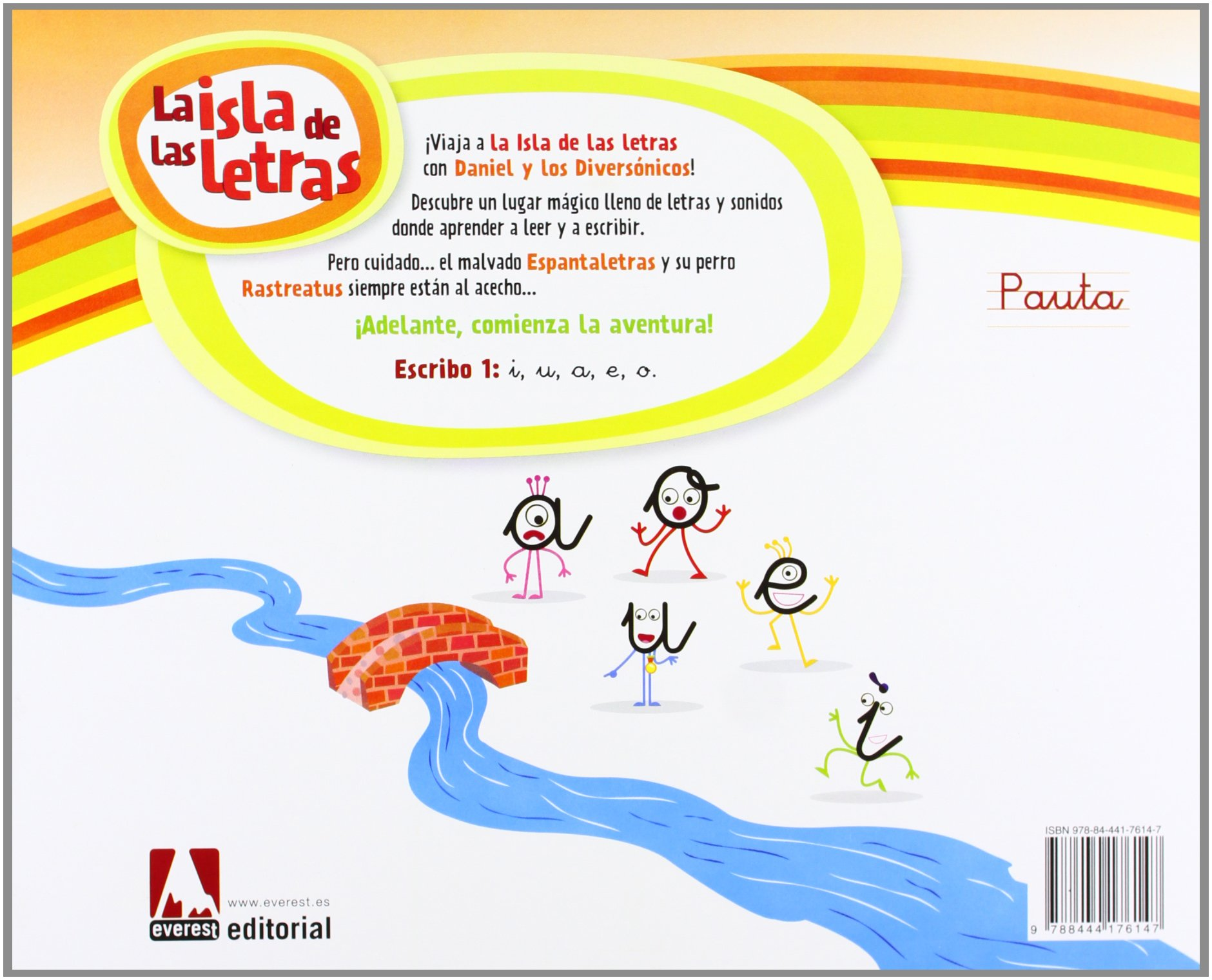 La Isla de las letras. Escribo 1 Pauta - 9788444176147: Amazon.es: Equipo  Everest, Bravo Fran: Libros