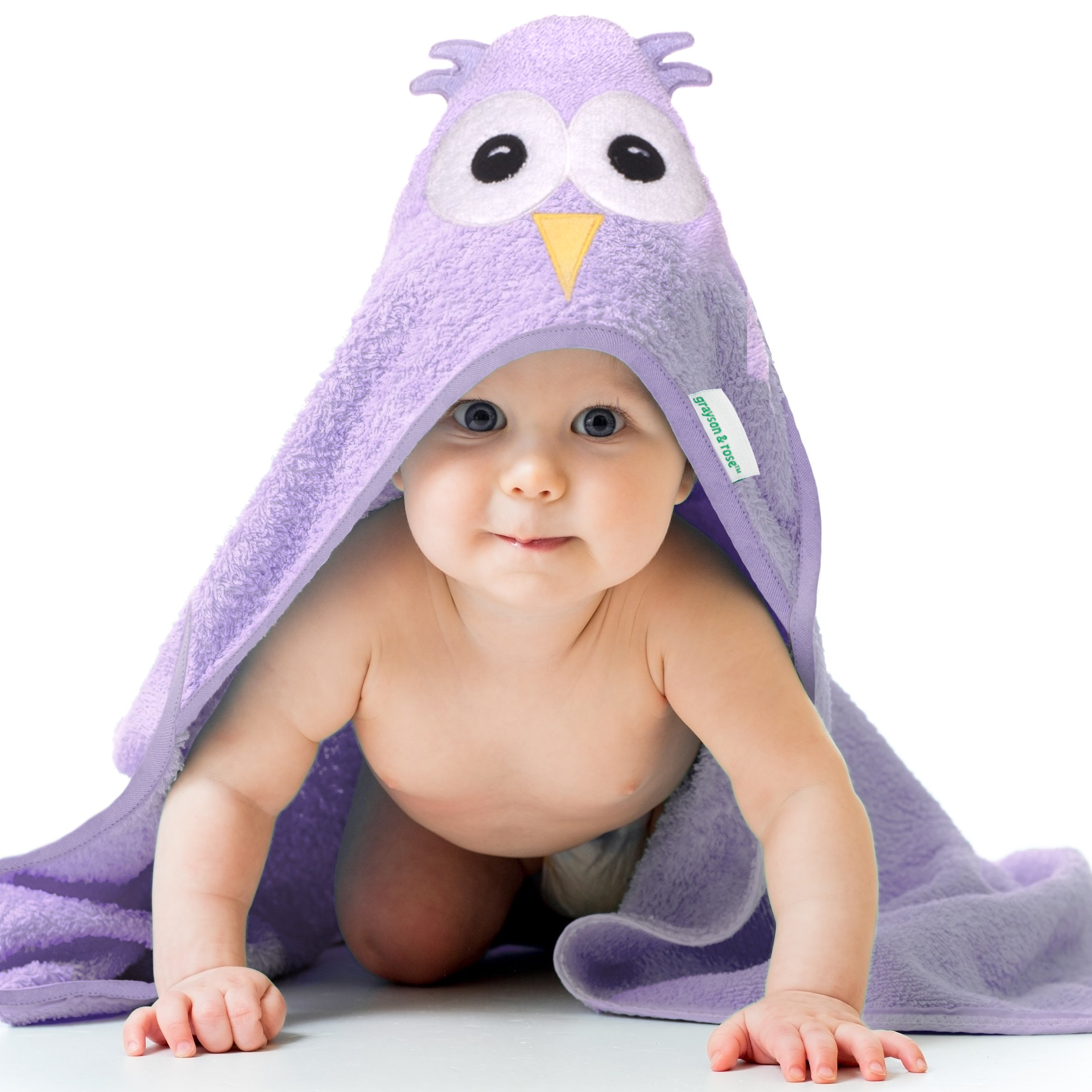 Cute Hooded Towel, Large, Thick, 100% Cotton, Baby Shower Gifts, Grayson and Rose by Grayson and Rose