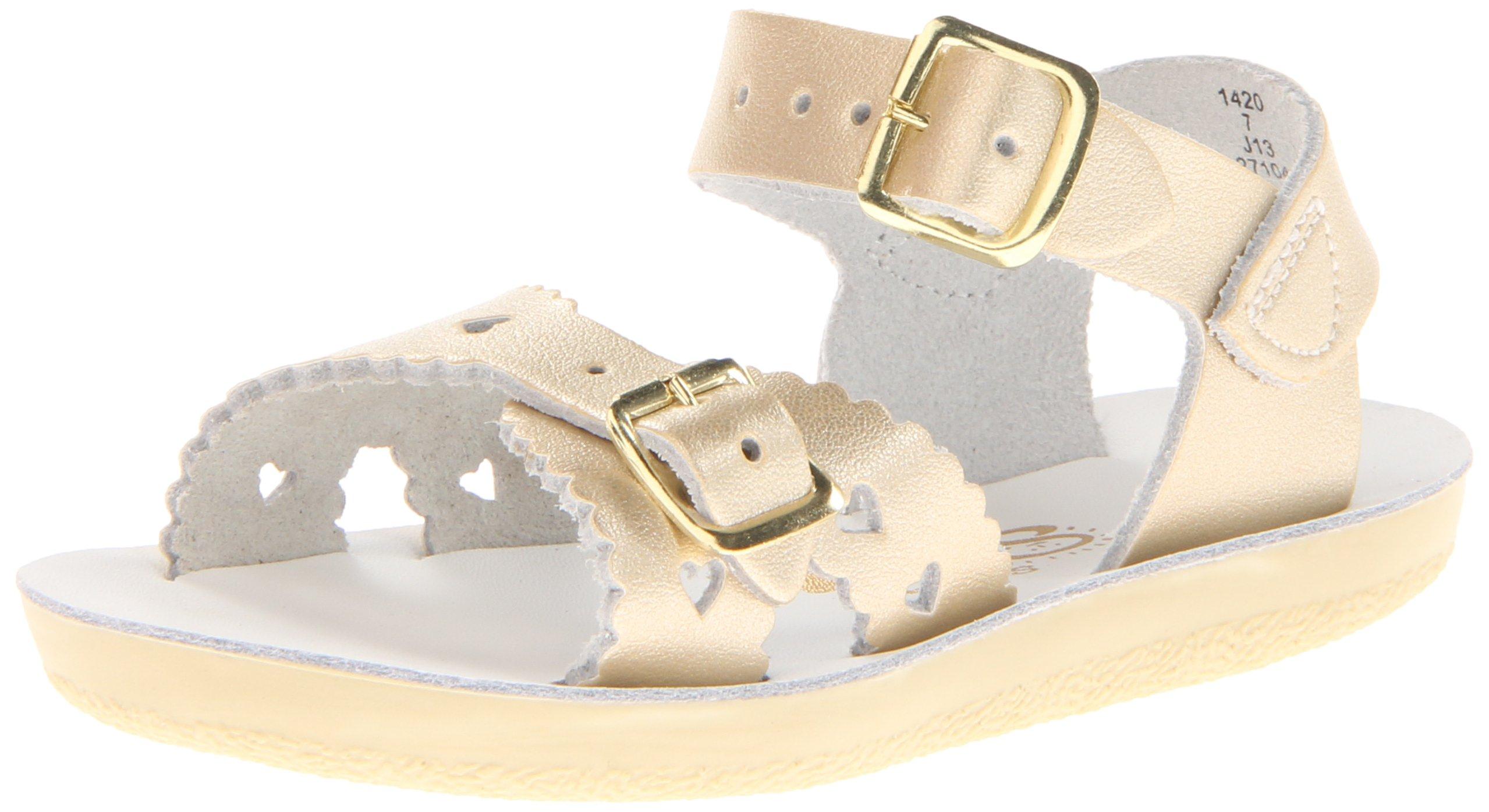 Salt-Water Style 1400 Sun-San Sweetheart Sandal, Gold, 6 M US Toddler