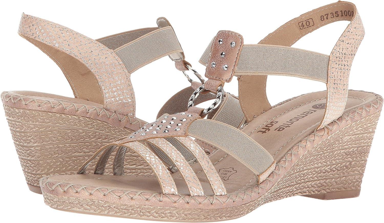 2018 Neuer Eintrag Damen Schuhe Ladies Rieker Wedge Sandals