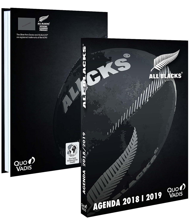 Quo Vadis - 1 Agenda Journalier Rugby All Blacks - Sept 2018 à Août 2019 - 12 x 17 cm