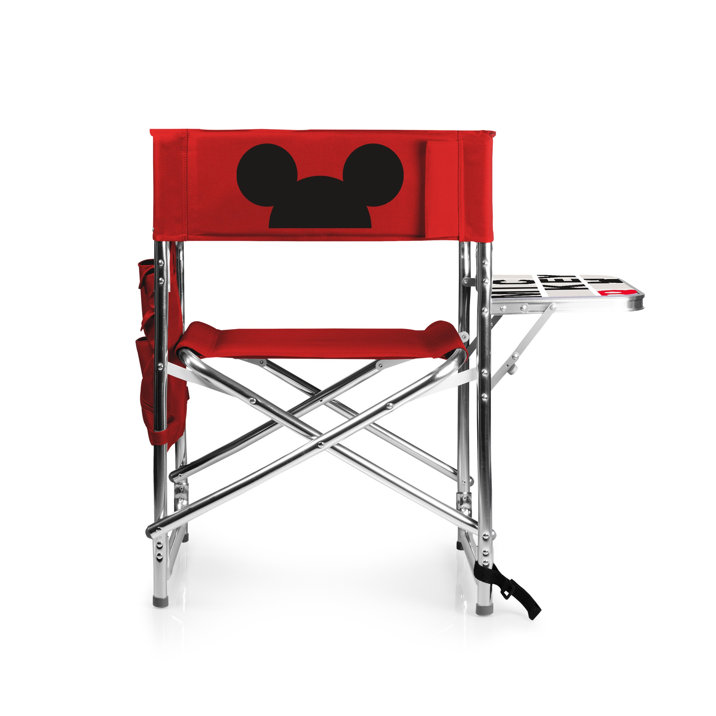 Disney Classics Mickey Mouse Portable Folding Sports Chair, Red