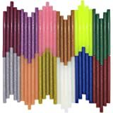Glitter Hot Melt Glue Sticks,Tretar Mini Colored Hot Glue Sticks for Arts Crafts, DIY, Home General Repair, Holiday Christmas