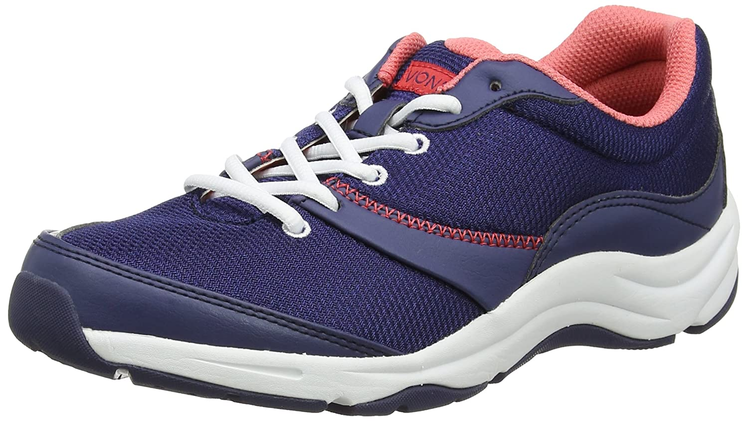 Vionic Kona Women's Orthotic Athletic Shoe B00PSFK1V0 9.5 C/D US|Navy/Coral