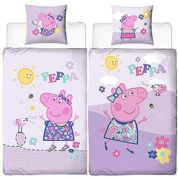 Mädchen Biber Kinder Bettwäsche Peppa Wutz Pig Chirpy 135 X 200 Cm 80 X 80 Cm Lila Rosa Pink 100 Baumwolle Flanell Sonne Bettzeug Bettbezug