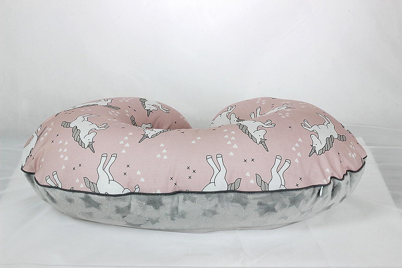 Rose Unicorn Nursing Pillow Cover Handmade Cotton Minky Cover With Zipper