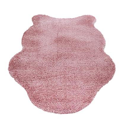 HomebyHome Cordero Alfombra de Piel sintética imitación Muy Suave y Suave 4,5 cm,