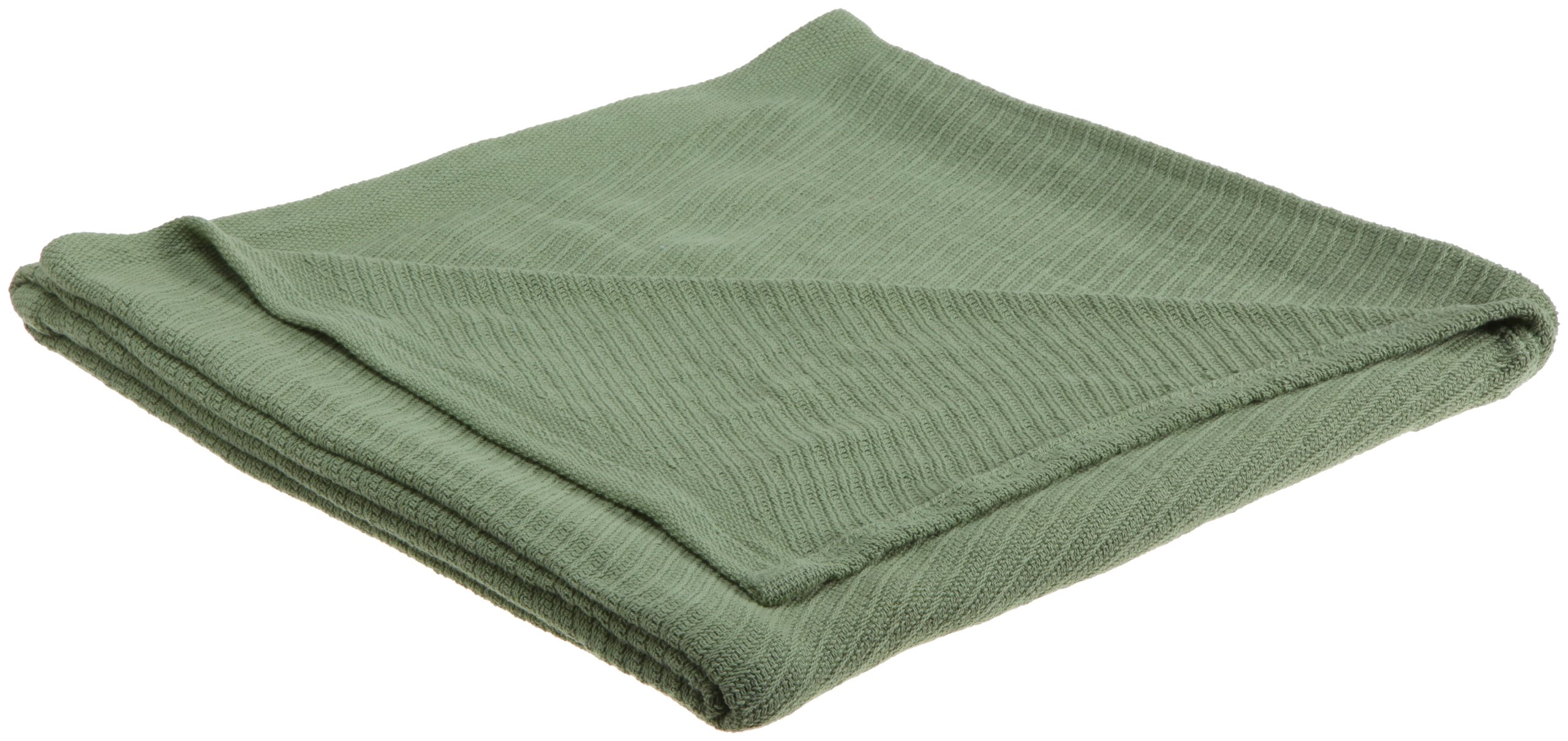 WestPoint Home 100-Percent Cotton Full/Queen Blanket, Sage - Made from 100-percent natural loom woven cotton Naturally soft and breathable Year round comfort - blankets-throws, bedroom-sheets-comforters, bedroom - 81Zw8i4UeTL -