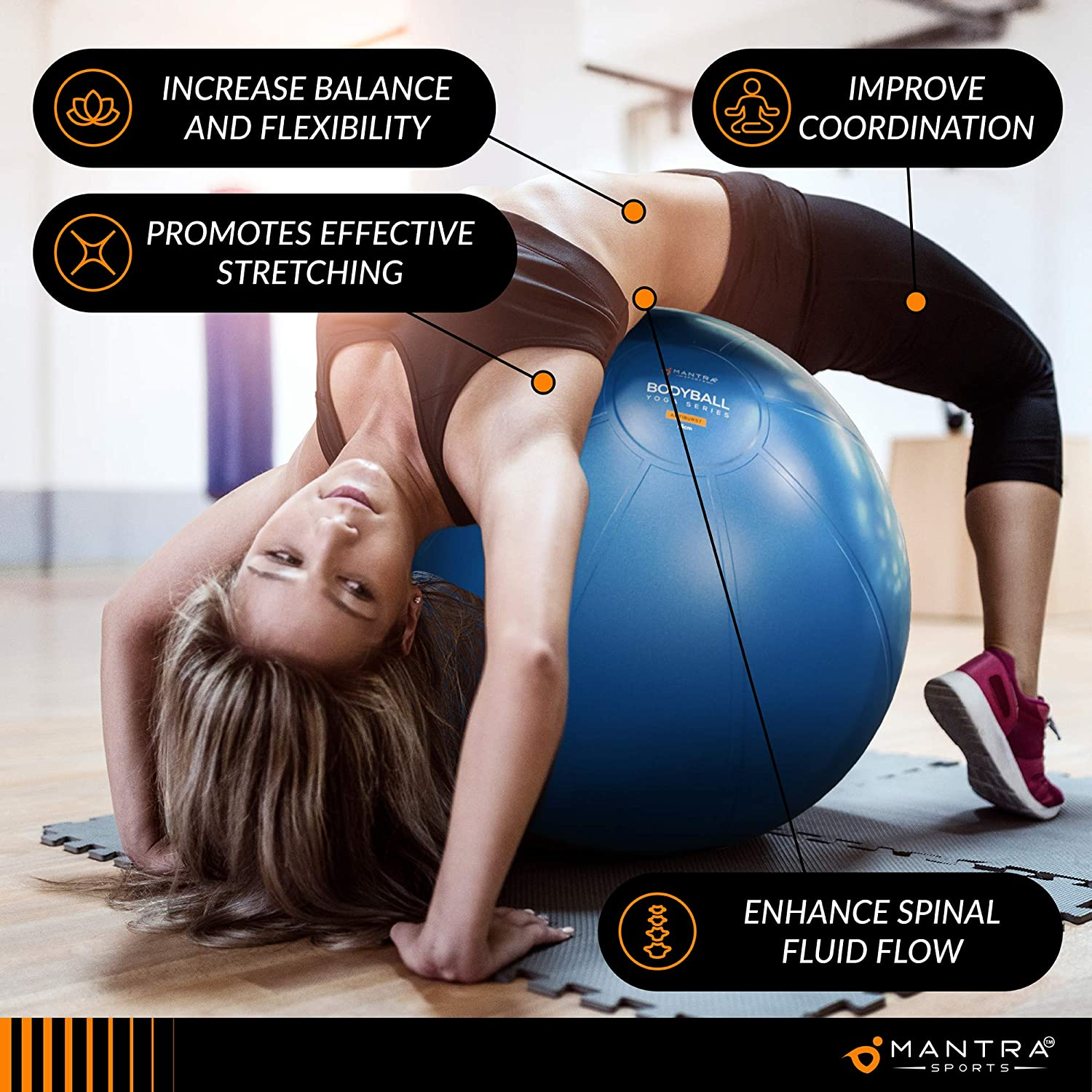 Exercise Ball Birthing or Office Desk Chair Yoga Anti-Burst /& Non-Slip 75cm Extra Thick Pregnancy Stability Ball for Fitness Gym Quality Workout Ball For Adults With Pump /& Guide Pilates