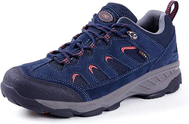 Men Hiking Shoes Lightweight Breathable Non Slip Sneaker Trail Running Trekking