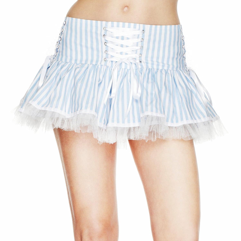 Hell Bunny – Falda Laura Skirt Bleu-Blanc Azul Azul y Blanco ...