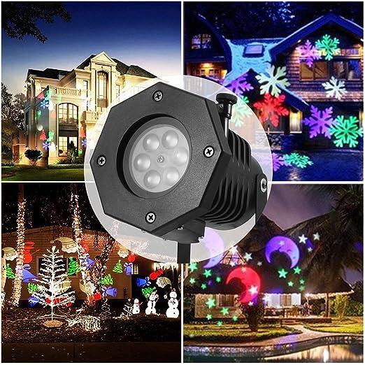 Proiettore Luci Natale Giardino.Gimify Led Proiettore Luci Natale Per Giardino Esterno Decorativa Illuminazione Impermeabile Con 12 Motivi Decorazione Festa Natale Parte Serata