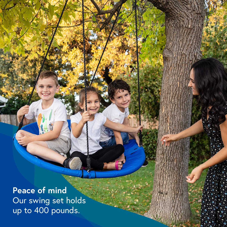 Skipdaloo Saucer Tree Swing for Outside - 40'' Hanging Round Swing for Kids, Easy Install, Steel Frame. by Skipdaloo (Image #3)