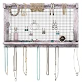 Comfify Rustic Jewelry Organizer - Wall Mounted