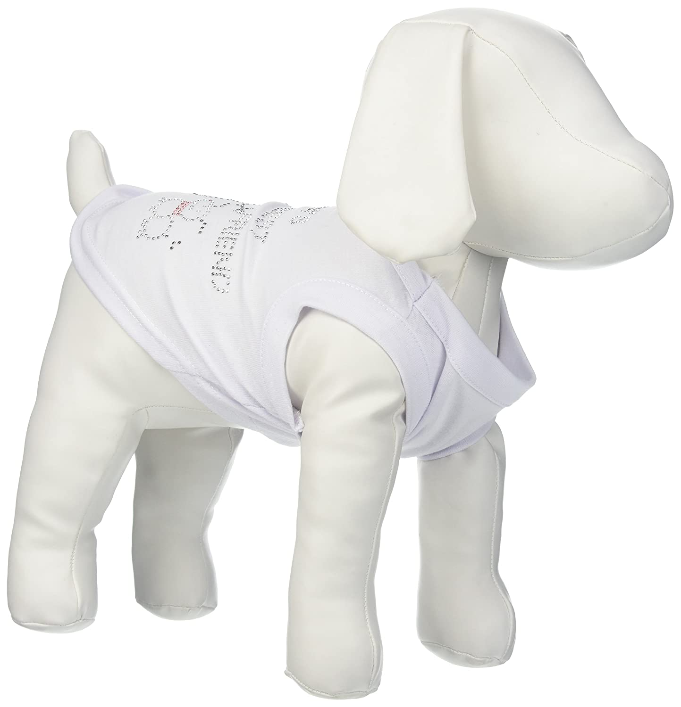 Dog   Cat   Pet Charms Snowman's Best Friend Rhinestone Shirt White S (10)