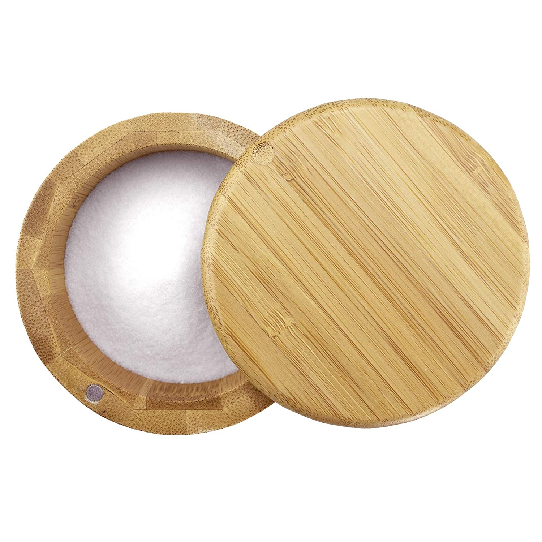 Totally Bamboo 20-2083 Round Salt Box Brown
