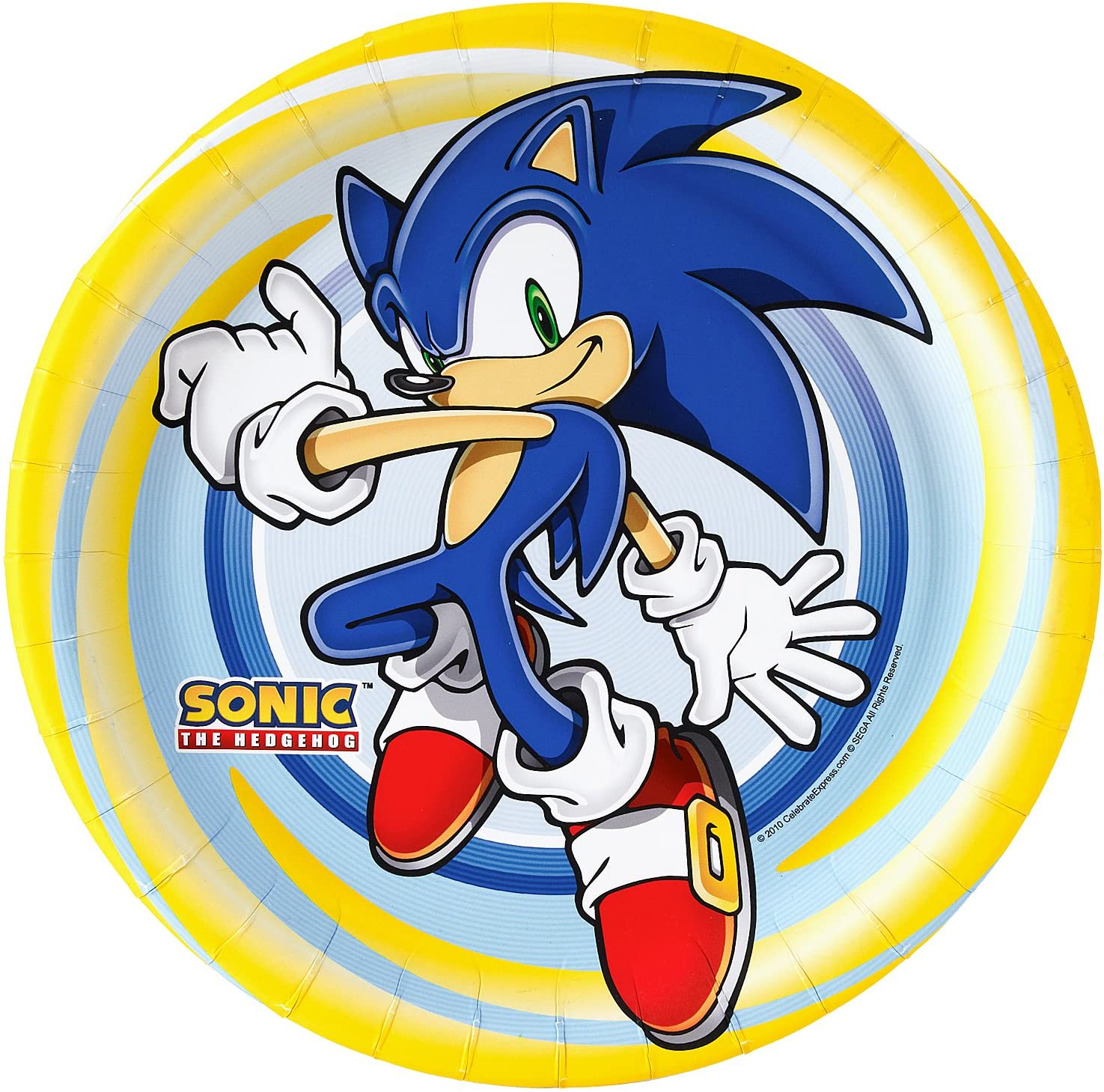 Amazon Com Sonic The Hedgehog Birthday Party Supplies 48 Pack Lunch Plates Toys Games