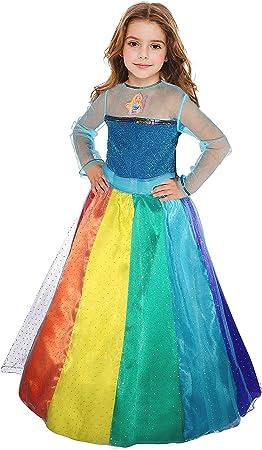 Ciao Barbie Princesa Arco iris disfraz de niña, 5 – 7 años ...