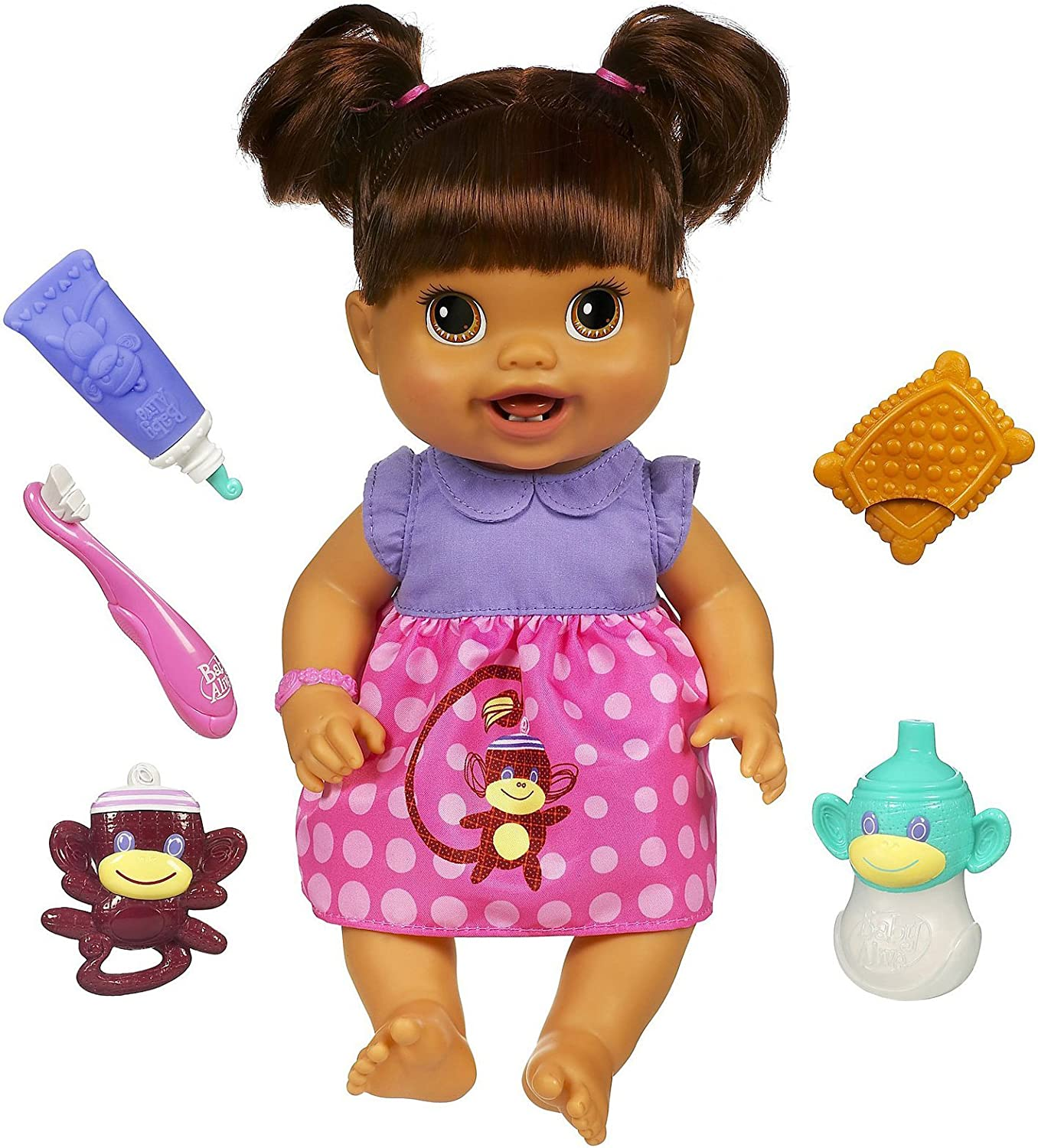 Amazon Com Baby Alive Baby S New Teeth Brunette Styles May Vary Toys Games