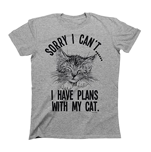 I Have Plans With My Cat Mens & Ladies Unisex Fit Slogan T-Shirt: Clothing