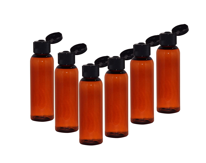 PET 2 oz BLUE Bullet Plastic Bottle 12 bottles with NATURAL DISC Lids freeship