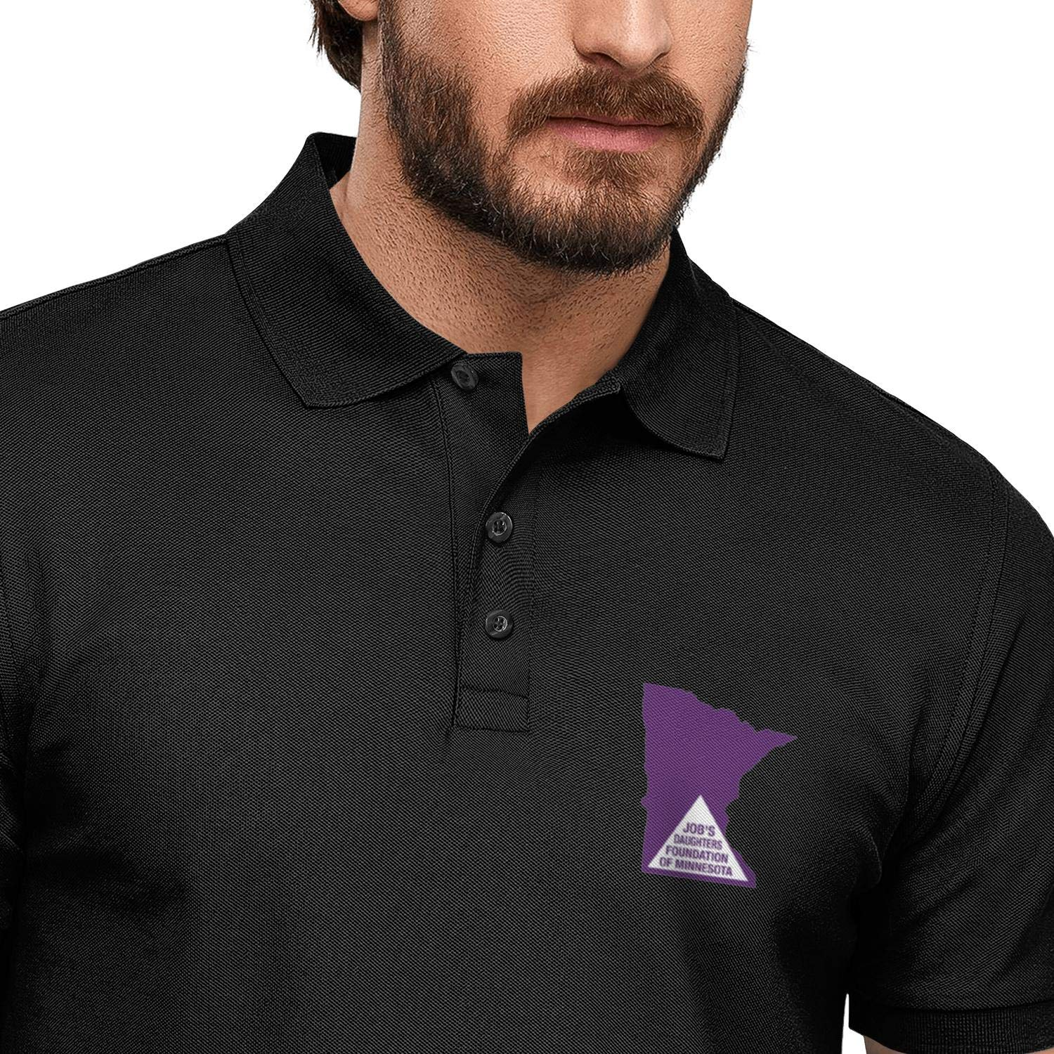 WENL Jobs Daughters Foundation of Minnesota Printed Mens Polo Shirt Funky Quick-Dry Shirts