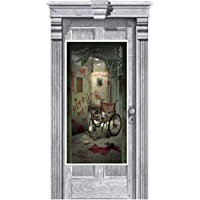Amscan 241170 Asylum Door Cover | Halloween Decoration, Multi Color, 1 piece