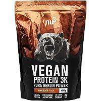 nu3 Vegan Protein 3K Chocolate Blend | 1Kg Plant Based Protein | Vegan Protein Powder Made from 3-Component Protein | with 70% Protein and Delicious Chocolate Flavor