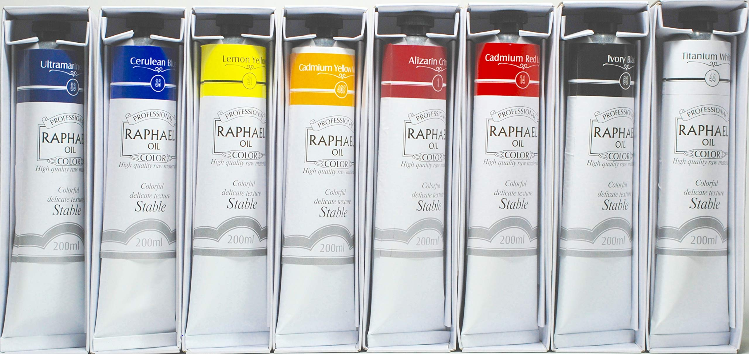 Raphael Split-Primary Oil Color Set - Bundle of 8 tubes 200 ml