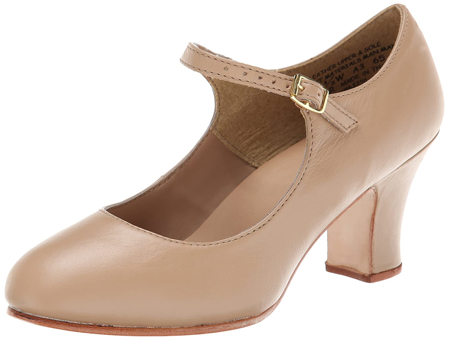 Capezio Women's Manhattan Character Shoe, B002CO4CGK 10 W US|Caramel