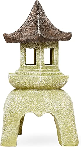 Juvale Outdoor Asian Pagoda Candle Lantern Statue