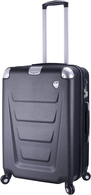 Mia Toro Italy Vernazza Softside 26 Inch Spinner Luggage Black