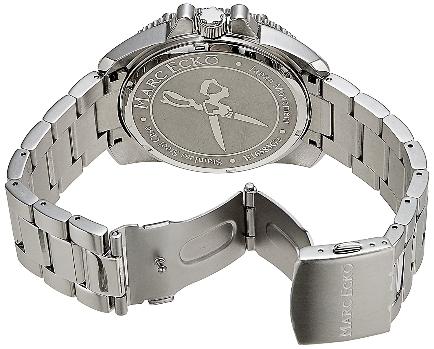 Amazon.com: Marc Ecko Mens E16583G2 The Flash Stainless-Steel Bracelet Watch: Marc Ecko: Watches