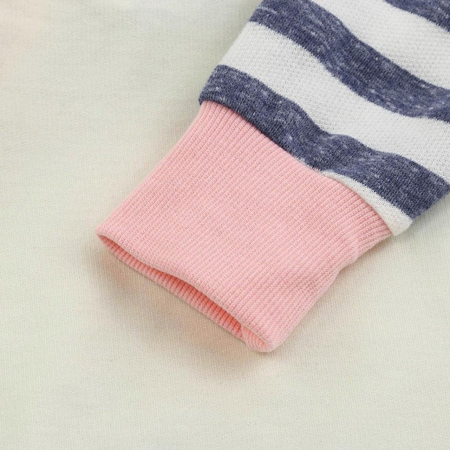 Baby Girls' Clothes Long Sleeve Hoodie Tops, Striped Pants+Headband Outfits Set (18-24 Months) by TUEMOS (Image #5)