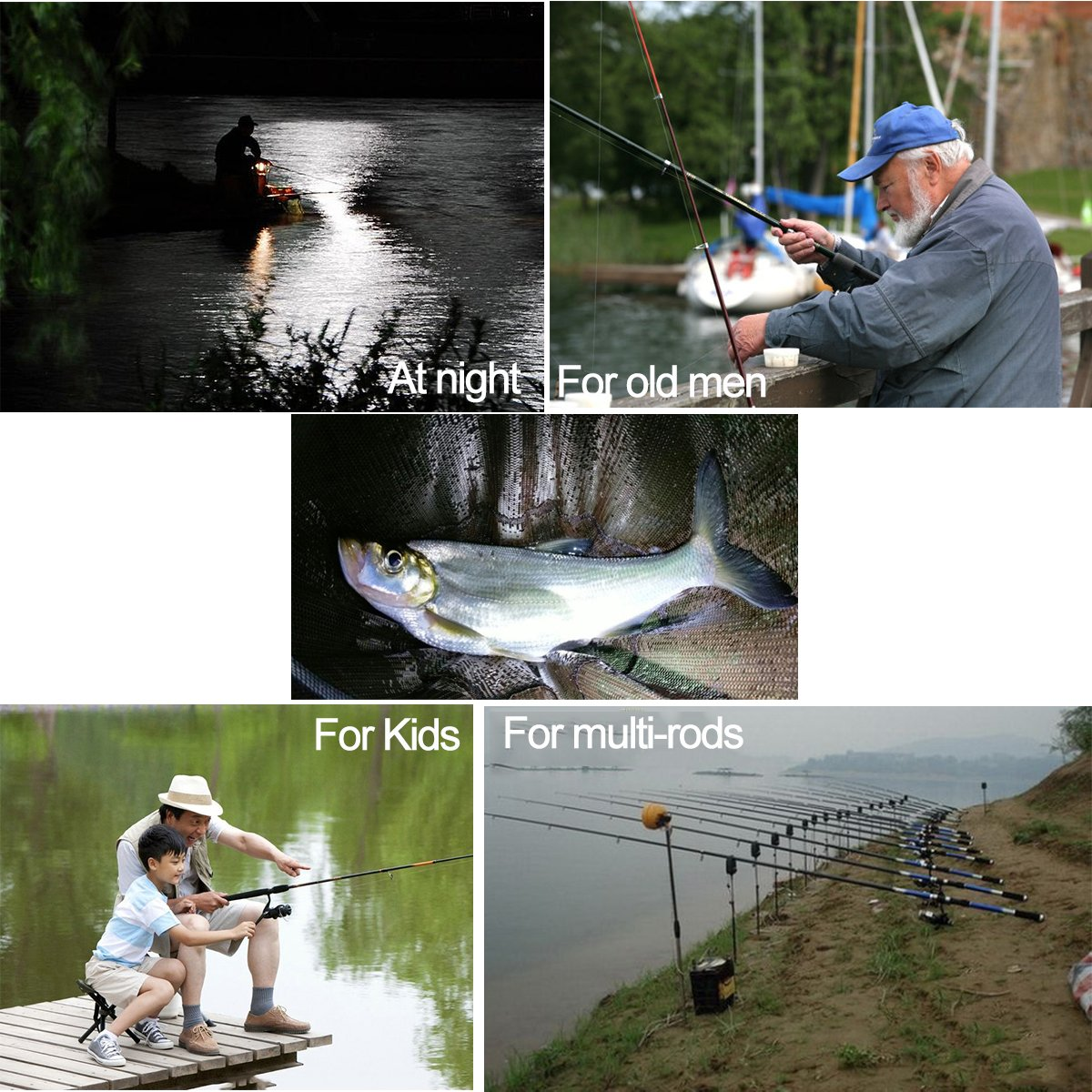 Electronic Bite Alarm for  Fishing Rod Beginners. Alarm with LED Indicator Light Sea Fishing Enthusiasts For Night Fishing Coolnice Freshwater Angling