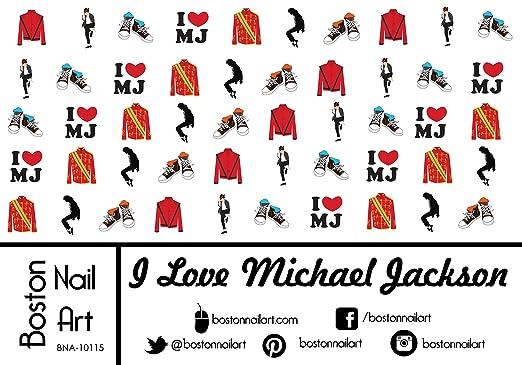 Amazon I Love Mj Michael Jackson Waterslide Nail Decals