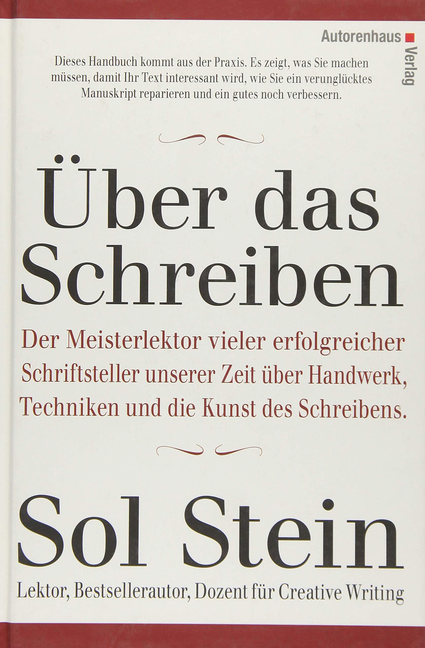 über Das Schreiben Amazonde Sol Stein Waltraud Götting