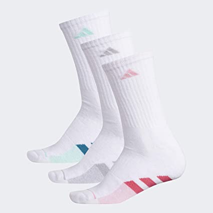 oxígeno Caso genio  adidas Women's Cushioned Crew Socks (3-Pair), White/Real Pink/Light  Pink/White - Light Pink Marl/C, Medium, (Shoe Size 5-10): Amazon.in:  Clothing & Accessories